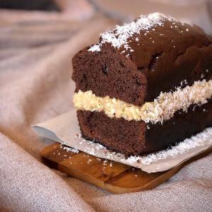 receta bizcocho de chocolate y coco