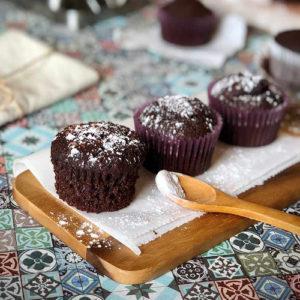 receta magdalenas integrales de chocolate