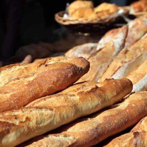Barras de pan de pueblo