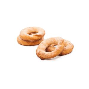 rosquillas hecha a base de harina e ingredientes naturales