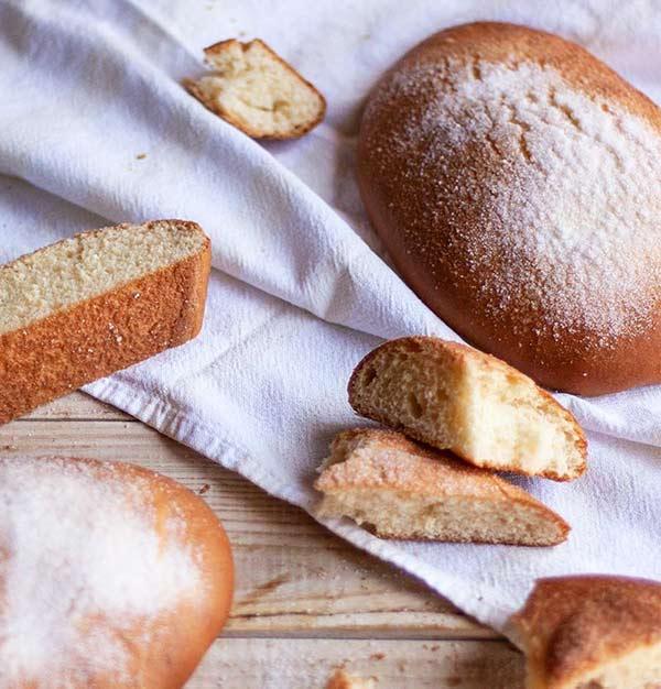 Tortas de masa de pan