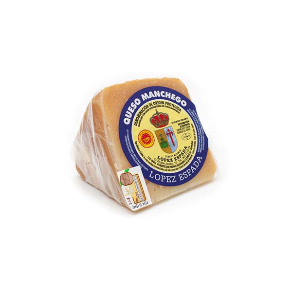 queso curado manchego tamaño cuña