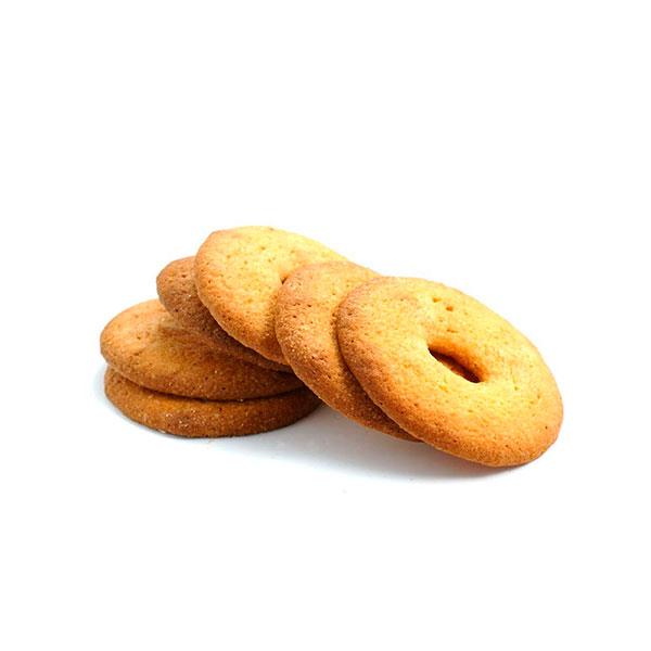 galletas de naranja con forma de rosco